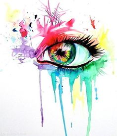 Color dripping eye art!!!