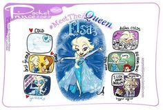 Elsa pocket princess by amy mebberson Pocket Princesses, Pocket Princess Comics, Disney Princess Art, Princess Cartoon, Disney Fan Art, Disney Love, Disney Stuff, Disney Kunst, Arte Disney