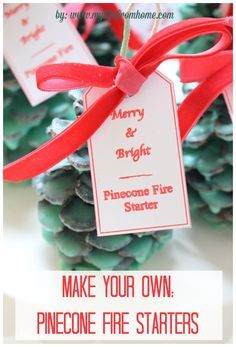 Sparking snowflake fire starter Winter Wonderland Fire starter Fire starters Pine cone firestarter Wedding Favors Soy fire starter