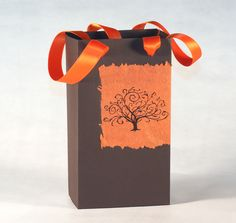 Easy gift bag to make for Halloween treats! Tutorial with template.