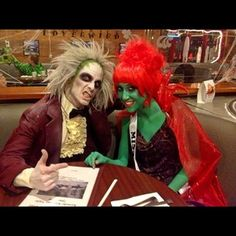 And this couple, who just watched The Exorcist for the one hundred and sixty-seventh time. | 25 Chilling Tim Burton Costumes You Should Try This Halloween