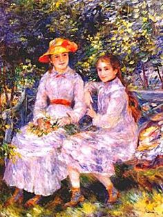 Daughters Of Paul Durand Ruel ~ By Pierre Auguste Renoir