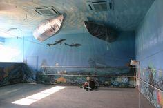Il progetto e pittura su muro.Autore M Sambur O Suprunovskij.Un ristorante a Mosca