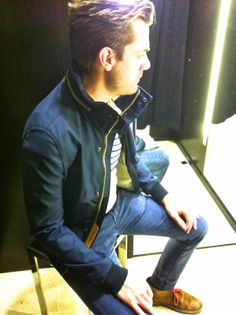 zara spring 2014 / men's navy jacket / nautical jacket /