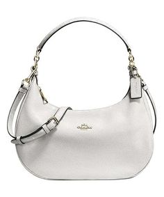 This White Pebble Leather Harley Hobo Bag is perfect!  zulilyfinds White  Pebbles f3f6cb2890cf4