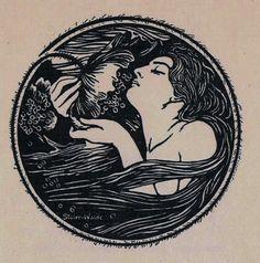 Intermezzo. Gedichte (Poetry book by) von Frida Schanz. Berlin : F. A. Lattmann Verl. circa 1910 Book illustration : M. Stüler-Walde