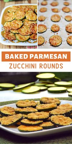 An addictive side dish with just 2 ingredients! Parmesan Zucchini Rounds is a menu idea that uses up the popular summer vegetable. Garlic salt and black pepper are sprinkled on zucchini slices before adding Parmesan. Save this and try it! Veggie Side Dishes, Vegetable Sides, Side Dish Recipes, Food Dishes, Dinner Recipes, Side Dishes For Steak, Easy Vegetable Dishes, Zucchini Side Dishes, Summer Side Dishes