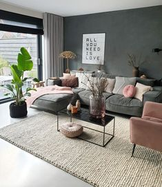 Kleur in each interior is really iets toe. hoe je dat doet, lees je here Ikea Living Room, Living Room Inspiration, Interior Inspiration, Cheap Home Decor, Home And Living, Living Room Designs, Living Room Ideas, Home Furnishings, Home Furniture