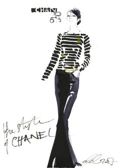 chanel clothing images | series of drawings commissioned by Chanel to record their first ever ...