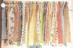 Shabby Chic Rag Valance great way to use leftover fabric.