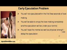 This video describes about why do i ejaculate too fast and how to fix this early ejaculation problem. You can find more detail about Lawax Capsules and Vital M-40 Capsule at http://www.ayushremedies.com