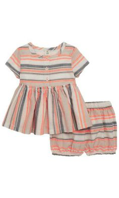f6b6154b7cf57 Tucker + Tate Woven Stripe Swing Top & Bubble Shorts Set (Baby Girls) |  Nordstrom