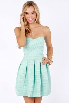 Simple and cute strapless mini dress for ladies... (Click on picture to see more stuff)
