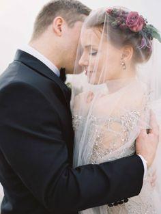 Elegant Destination Real Wedding in Italy - sequin gown and Valentino rockstud heels | Wedding Sparrow | Erich McVey