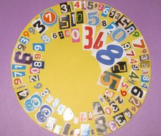 Pi Day numbers collage