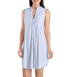 Hanro Cotton Deluxe Sleeveless Nightdress in beautifully soft Pima cotton.  Perfect for sleeping fc6773d78