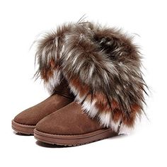 cool New Autumn Winter Women Snow Boots Ankle Boots Warm Fur Shoes