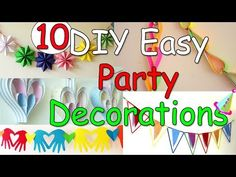 10 Diy Easy Party Decorations Ideas Ana Diy Crafts inside The Most Diys Birthday Party - Party Supplies Ideas Diy Party Crafts, Paper Crafts For Kids, Craft Party, Diy For Kids, Easy Crafts, Crafts Cheap, Party Party, Ideas Party, Diy Paper