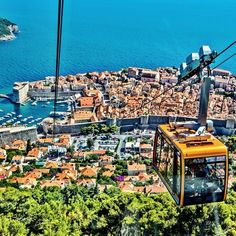Sail Croatia tip: Ride the cable car to to top of Srd Hill for breathtaking views over the Old City of Dubrovnik! #OldTown #dubrovnik #sailcroatia