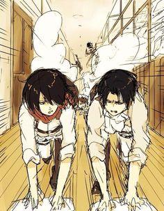 Mikasa vs Levi lolol
