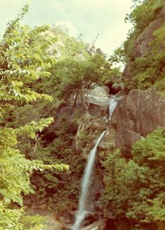 Another shot of the waterfalls on Okinawa, 1970.