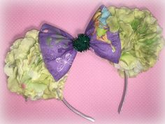 Tinkerbell Inspired Floral Mouse Ears by EnchantedEtc on Etsy