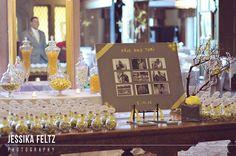 Indiana University Wedding Photos, yellow and grey wedding reception, elegant wedding reception, seating cards, escort cards