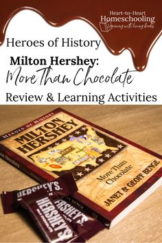 Find out about the life of Milton Hershey with this great biography from the Heroes of History series! (And a few extra learning activities all about chocolate too. Social Studies Notebook, Teaching Social Studies, History Education, Teaching History, Milton Hershey, Library Skills, American History Lessons, Learning Activities, History Activities