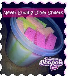 Never Ending Dryer Sheets