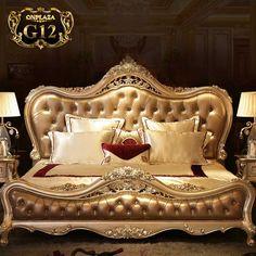 Giường ngủ cổ điển phong cách Hoàng Gia Châu Âu thời thượng G12