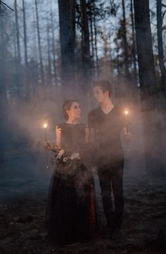 Wedding Themes Goth wedding inspiration - This Halloween-themed spooky inspiration shoot was set in Payson, Arizona, were a fire had burned down the forest. Set in-between the trees, they staged a romantic Halloween ballet. There were hors… Perfect Wedding, Dream Wedding, Wedding Day, Pagan Wedding, Wedding Tips, Fantasy Wedding, Spring Wedding, Goth Wedding Ring, Wedding Favors