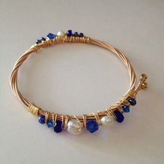 ReCycled Guitar String Bracelet  Blue Bayou by StrumthingNew, $23.00