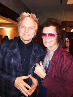 With brother Matt Sorum at Save the Elephants of Amboseli fundraiser in Westwood