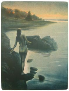 Kveldsbad Painting, Art, Kunst, Art Background, Painting Art, Paintings, Performing Arts, Painted Canvas, Drawings