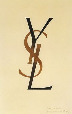 YSL logo by Adolphe Mouron Cassandre, 1961