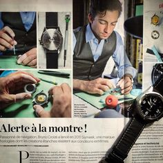 Thanks Le Parisien for this nice article in our workshop #Sismeek #watches #press - Sismeek story ⌚️⌚️