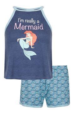 Primark - Pyjama Disney haut dos nu Petite Sir�ne