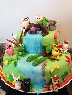verjaardagstaart dieren