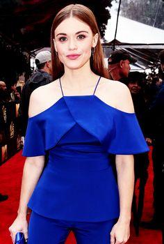 Holland Roden attends the 2016 MTV Movie Awards at Warner Bros. Studios on April 9, 2016