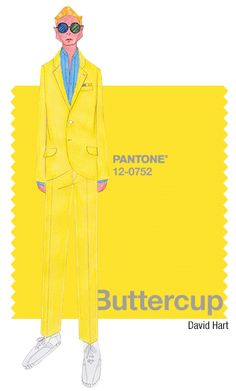 David Hart in Pantone Buttercup - SPRING 2016 PANTONE's FashionColorReport