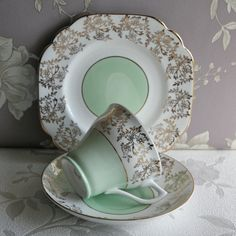 Very Pretty Vintage English Teacup Saucer And by PavlovaandFox, £16.75