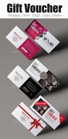 Multi Use Gift Voucher Bundle Template #design Download: http://graphicriver.net/item/multi-use-gift-voucher-bundle/12631625?ref=ksioks