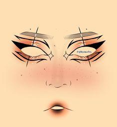 Punk Makeup, Anime Makeup, Edgy Makeup, Eye Makeup Art, Makeup Inspo, Graphic Makeup, Graphic Eyeliner, Ethereal Makeup, Makeup Face Charts