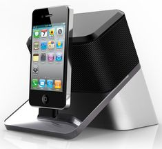 Audio Video Projector with Speaker for iPod, iPhone & iPad. Cool!