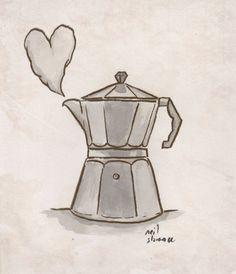 espresso kettle cartoon - Google Search