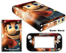 Super Mario Vinyl Skin Sticker Protector for Nintendo Wii U and controller skins Stickers WiiU-0047
