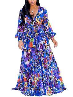 297678934e6 Medeshe Women s Chiffon Floral Holiday Beach Bridesmaid Maxi Dress ...