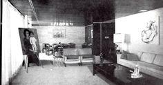 Estancia y comedor, Casa Rosen, Fuente de Rolando 6, Lomas de Tecamachalco. Edo. de México 1963 -  Arq. Manuel Rosen Morrison