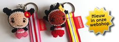 Keychains 'Sara' and 'Woepi' Crochet Keychain, Crochet Earrings, Crochet Buttons, Key Chains, Knitting, Toys, Shop, Baby, Key Hangers