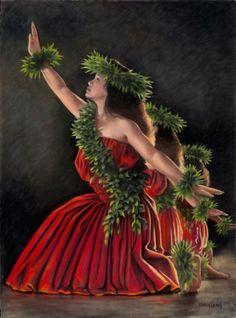 I want this picture for my wall at work. Polynesian Dance, Polynesian Culture, Polynesian People, Hawaiian Dancers, Hawaiian Art, Hawaiian Legends, Tahitian Dance, Aloha Hawaii, Hawaii Hula